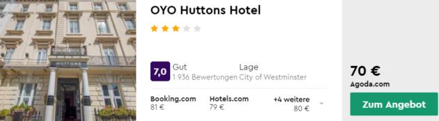 3 Tage London Hotel