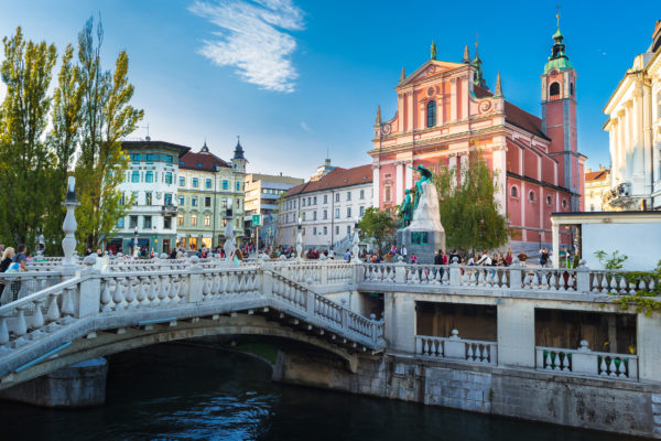 Slowenien Ljubljana Brücke