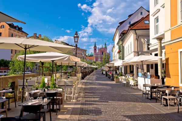 Slowenien Ljubljana Cafés