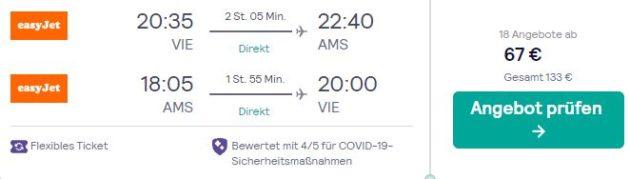 3 Tage Amsterdam Flug